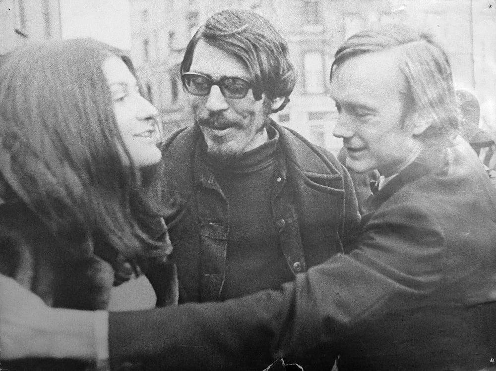 Bordeaux 1969, festival Sigma :Philipe Bordier en compagnie de Jean-Pierre Bouyxou et Monica Swinn