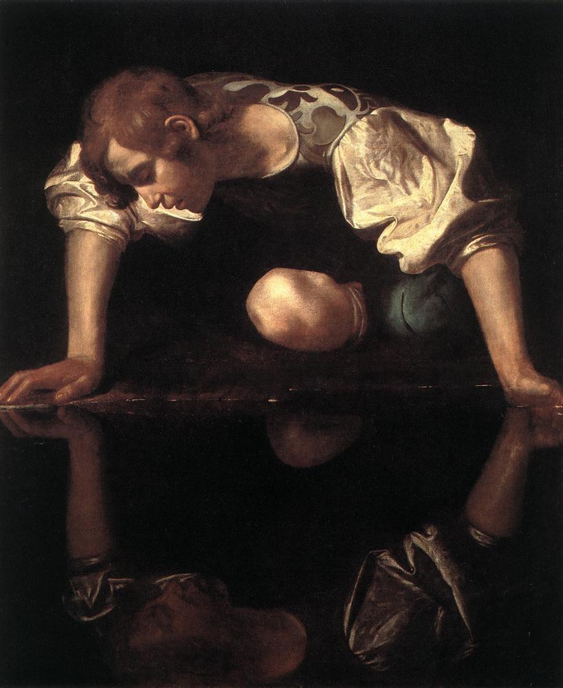 Narcisse, par Le Caravage.