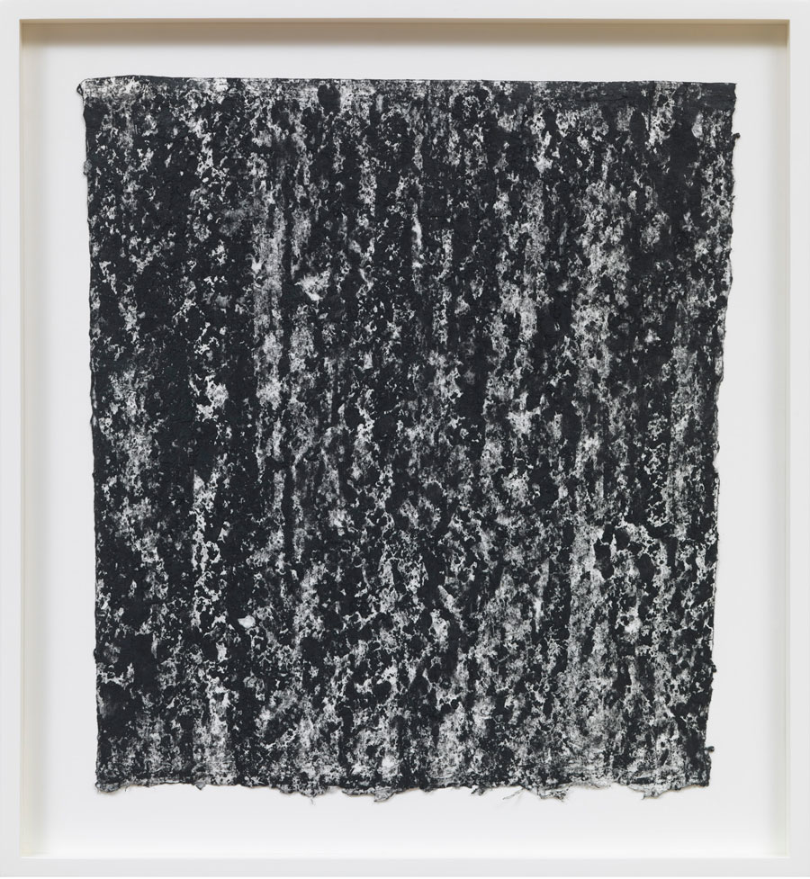 Richard Serra, Ramble 2-7, 2015, litho crayon on paper, 21 1/4 × 19 1/2 inches (54 × 49.5 cm). Photo by Rob McKeever