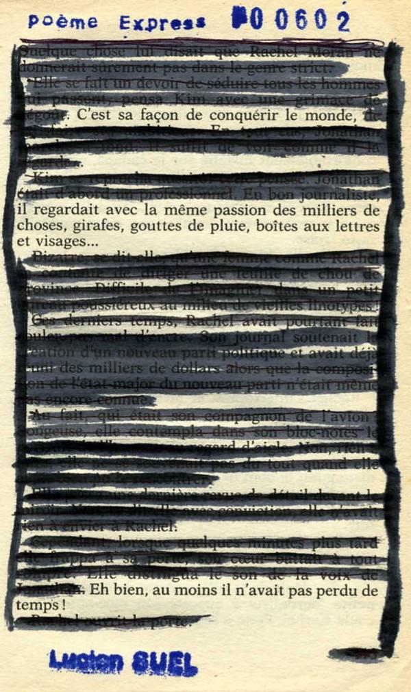 Poème Express © Lucien SUEL