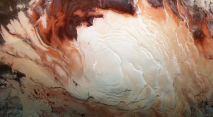 La calotte glaciaire du pôle Sud martien. © Bill Dunford