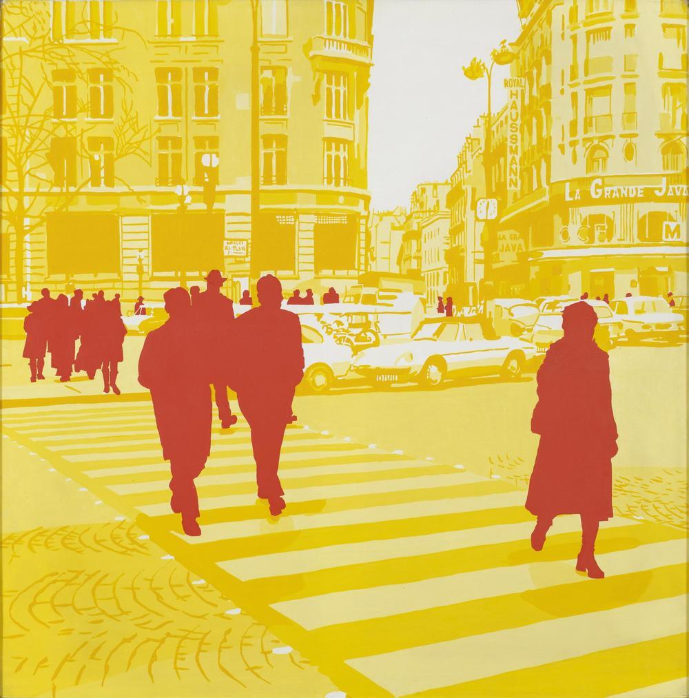 Fromanger/ Midi et Demi , série Boulevard des Italiens1971