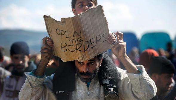 A la frontière gréco-macédonienne. Photo AFP