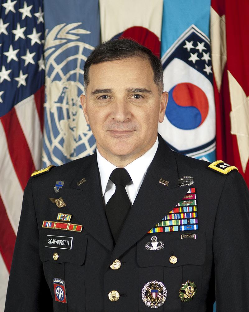 Le nouveau Commandant suprême allié en Europe : le général Curtis Scaparrotti de l'armée de terre US.