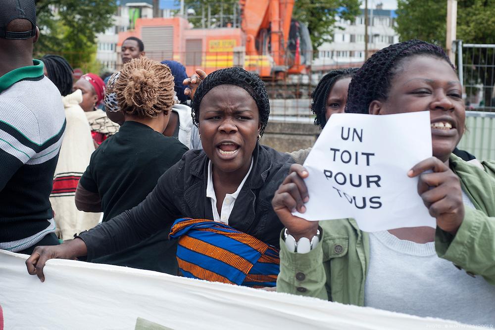 Démolition de la barre Balzac à la Cité des 4000.