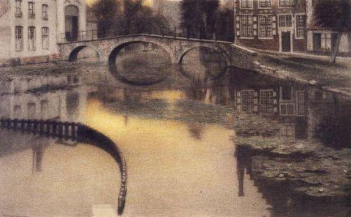 Fernand Khnopff, «Bruges – L'entrée du béguinage », 1904.