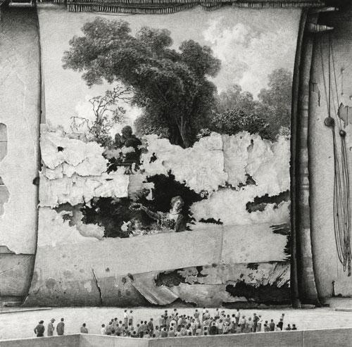 Ethan Murrow : Commonplace, 2015. Graphite sur papier, 11,7 cm x 11,7. Ethan Murrow