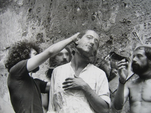 Tournage du film Cristo de Teo Hernández, 1977 photographie de Rafael Vanegas