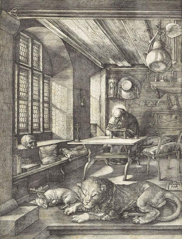 Saint-Jérôme dans son étude – Albrecht Dürer