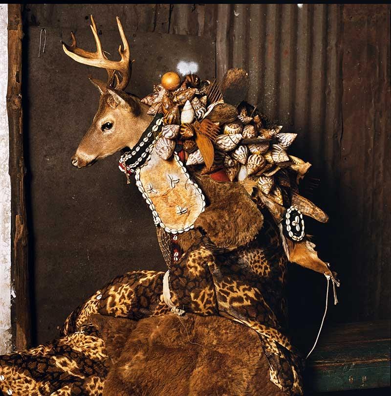 © Phyllis Galembo.Ogborone (Devil) Masquerade, Mountain Cut, Sierra Leone, 2008.