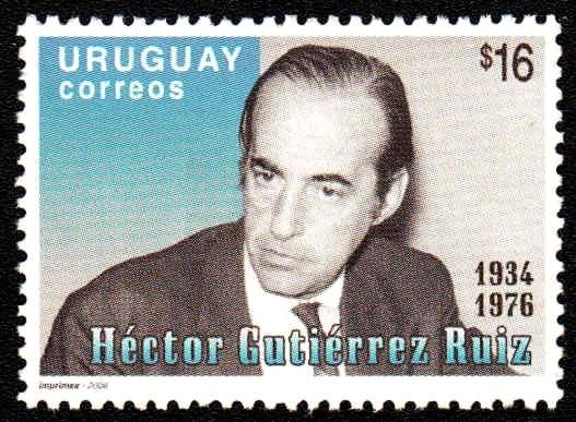 Hector Gutierrez Ruiz, président du Parlement au moment du coup d'État en Uruguay