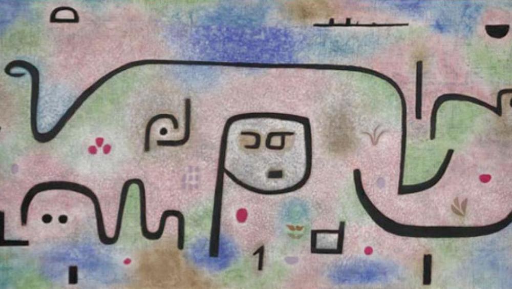 PAUL KLEE   Insula dulcamara  , 1938 Huile et couleur à la colle sur papier