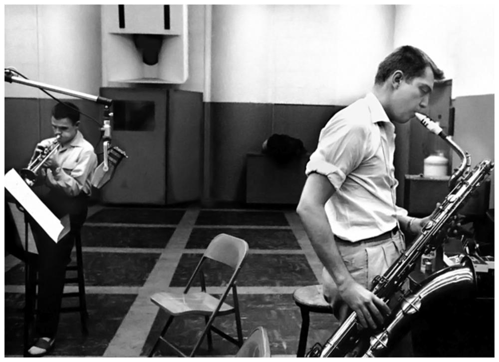 Chet Baker (G) et Bud Shank (D)