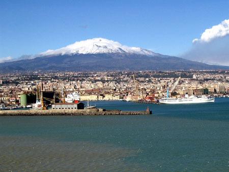 Catane et l'Etna.