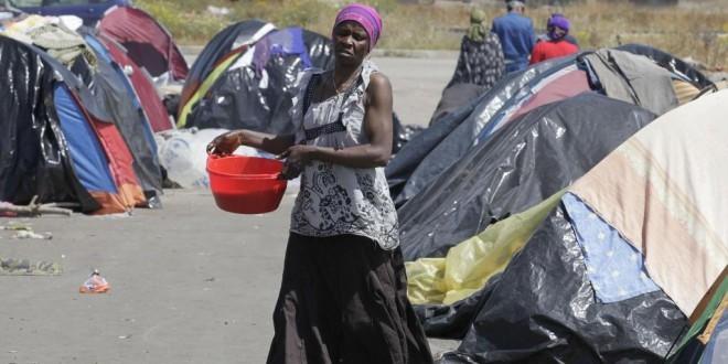 Camp de migrants à Ouargla