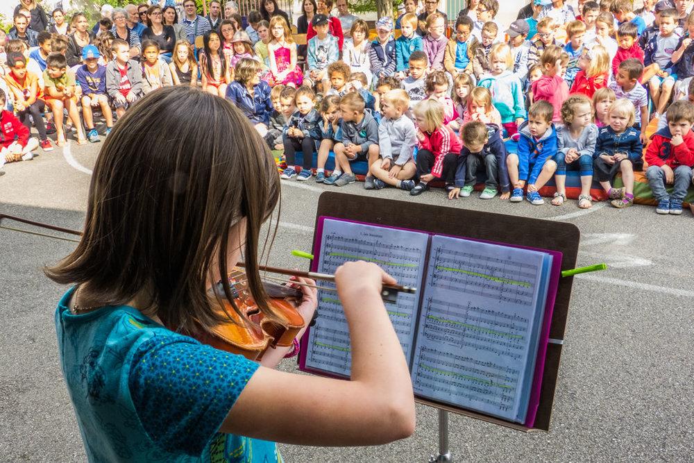 Spectacle de l'École Durkheim d'Épinal pour la fête de la musique