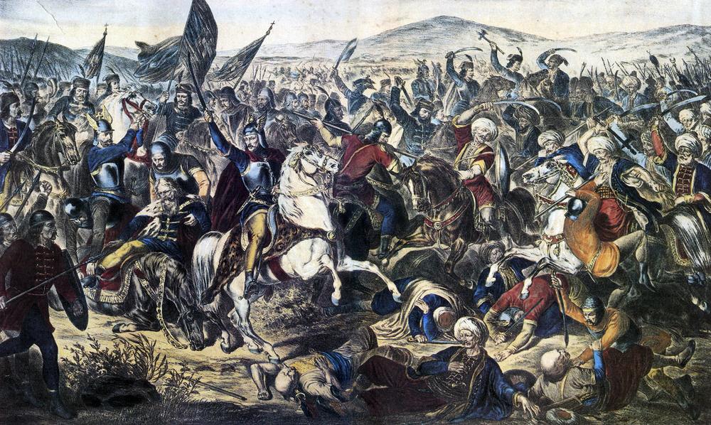La bataille du Kosovo entre les Serbes et les Turcs
