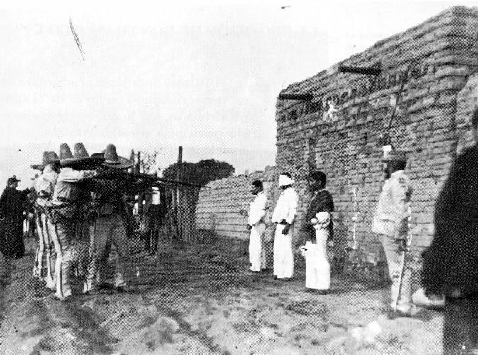La répression de la grève de Río Blanco, par les troupes de Porfirio Diaz