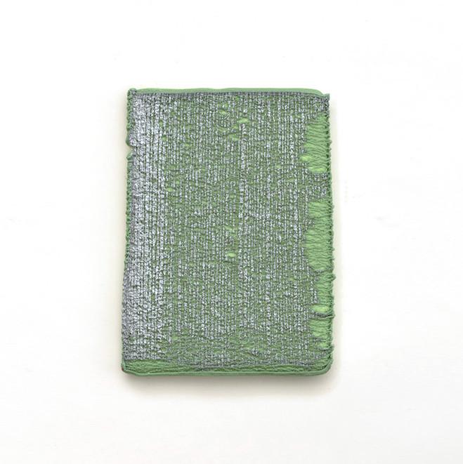 Dominique De Beir, Altération, 6 mai 2014 Peinture, cire, impacts sur polystyrène —32 ×23 ×2 cm © Dominique De Beir, Courtesy Galerie Jean Fournier, Paris