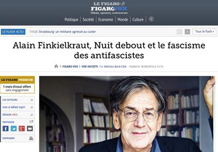 Dans le Figaro, on inverse les rôles.