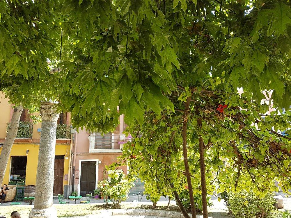 Le festival se déroule en divers lieux au charme puissant: ici, la place San Domenico, où piano et violoncelles ont accompagné un hommage à Miguel Hernandez