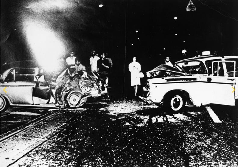 Daido Moriyama ,  sans titre , photographies extraites de la série  Accidents (Akushidento), 1969