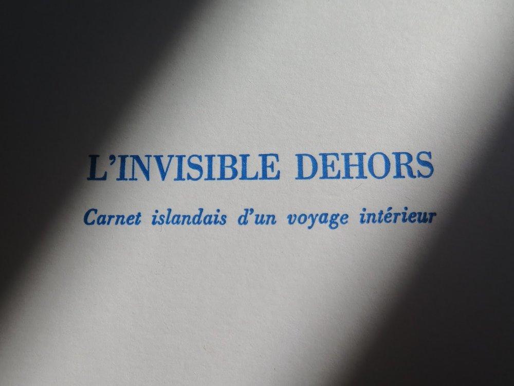 L'invisible dehors