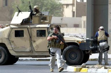 Une équipe Blackwater à Bagdad en 2005 (® AFP / Ahmad al-Rubaye)
