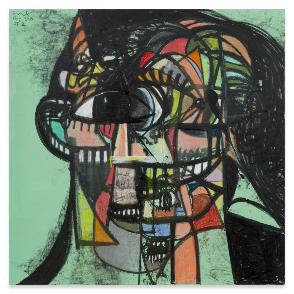 George Condo,Untitled (Head #2),(2016). Copyright George Condo, Courtesy the artist and Sprüth Magers.