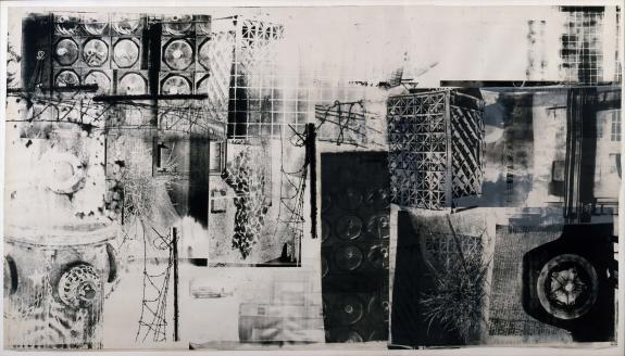 Salvage - Untitled 1983 (Textile ink and fabric collage on fabric-laminated paper)
