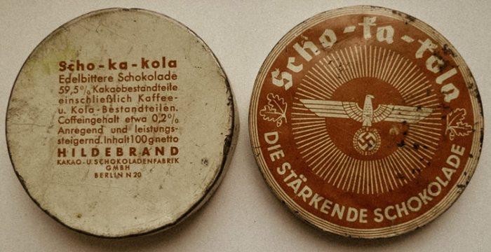 « Panzerschokolade », « Fliegerschokolade », « Stuka-Tabletten » ou encore « pilules de Göering », le chocolat noir énergisant «Scho-Ka-Kola »