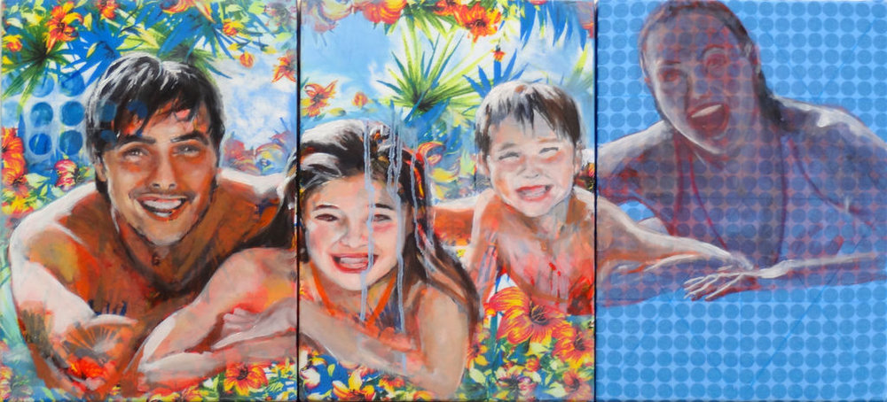 Série - Les aoûtiens sur motif floral