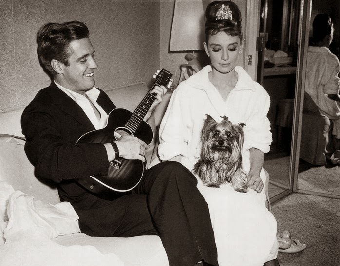 Breakfast at Tiffany's - José luis de Villalonga et Audrey Hepburn 1961