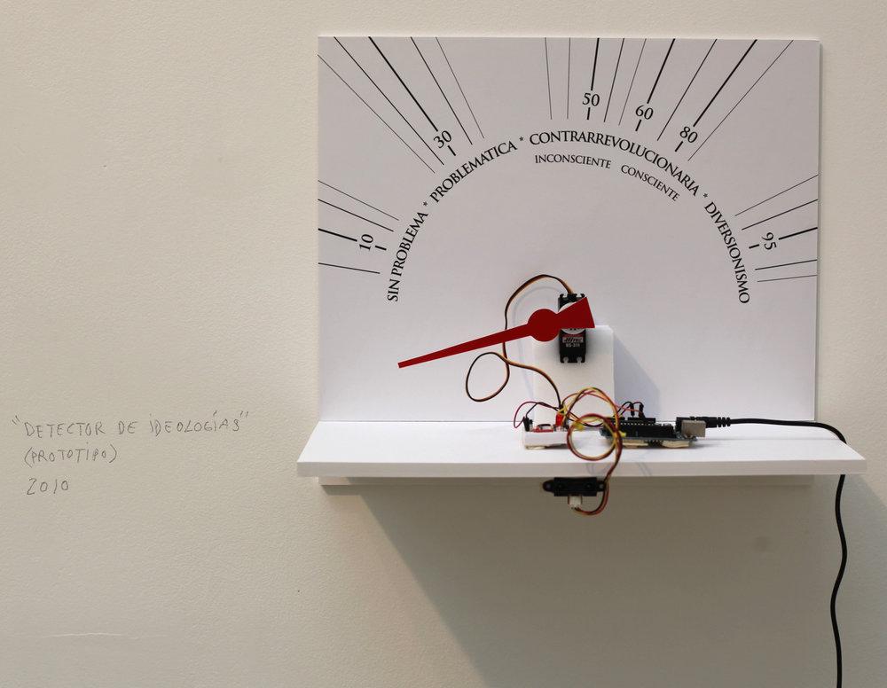 Detector de Ideologias,collection permanente du Musée des Beaux-Arts de Cuba.