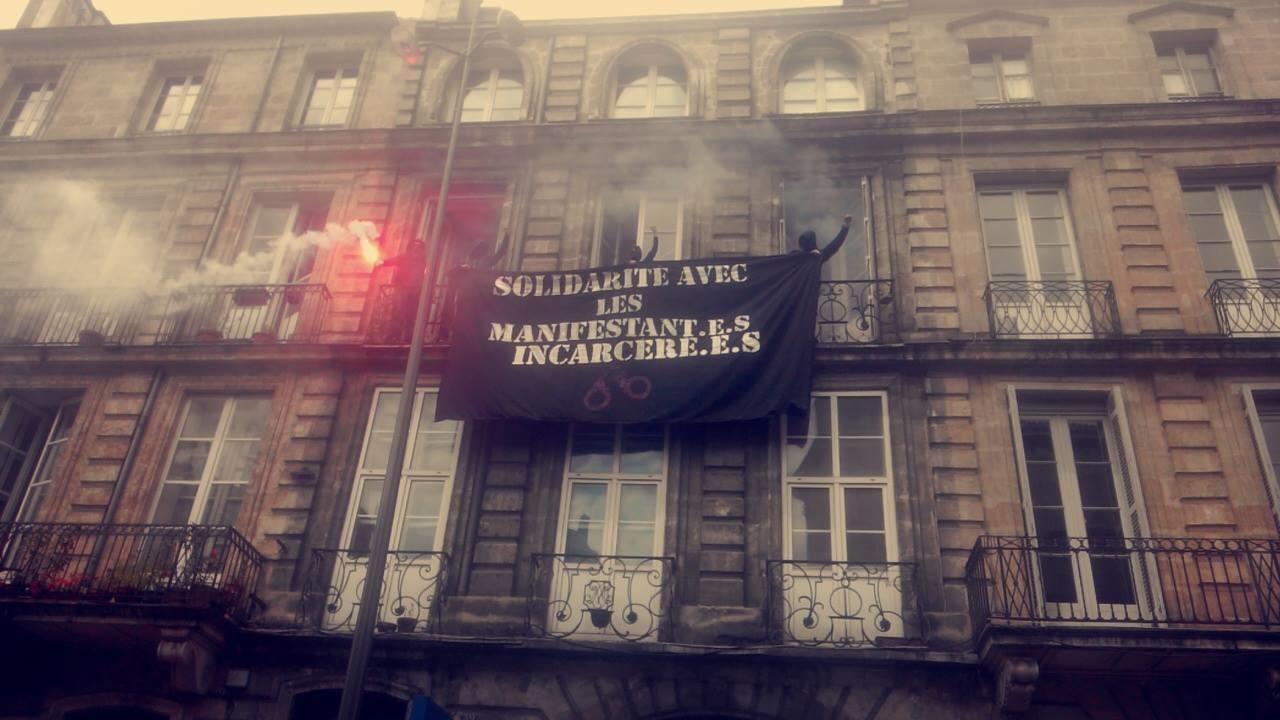 Manifestation du 26 mai contre la loi travail à Bordeaux.