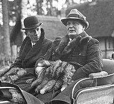 Lord Halifax et Hermann Goering (novembre 1937)
