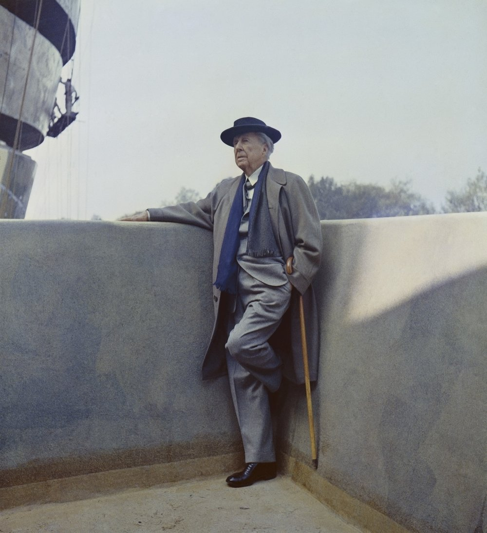 Frank Lloyd Wright (sur le chantier du Guggenheim)