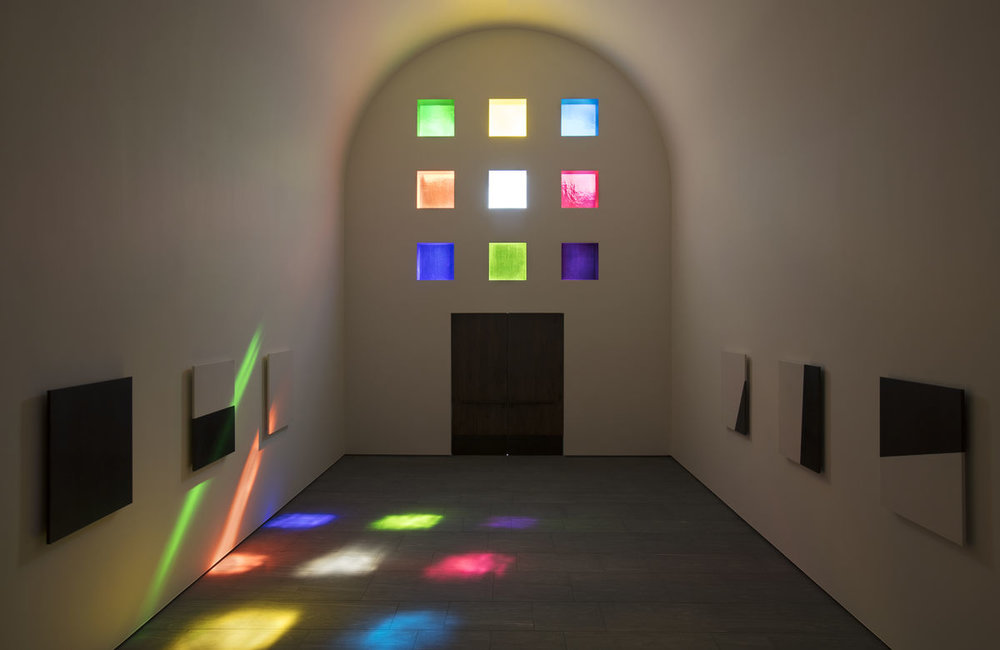 Ellsworth Kelly,  Austin , 2015 (Interior, facing south). © Ellsworth Kelly Foundation. Courtesy of Blanton Museum of Art, The University of Texas at Austin.