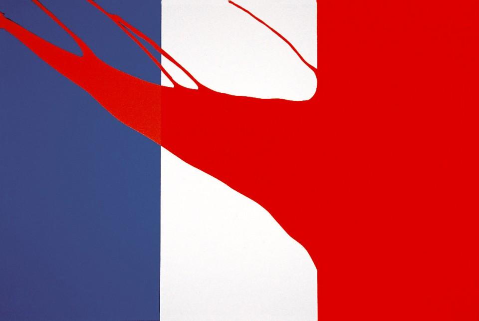 Gérard Fromanger   Drapeau français - le Rouge 1968