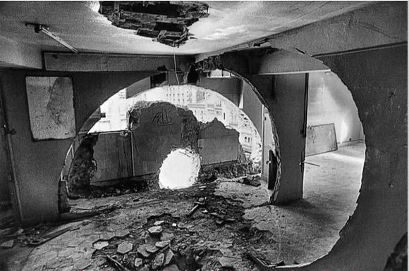 Conical Intersect [Intersection conique] , 1975 Gordon Matta-Clark