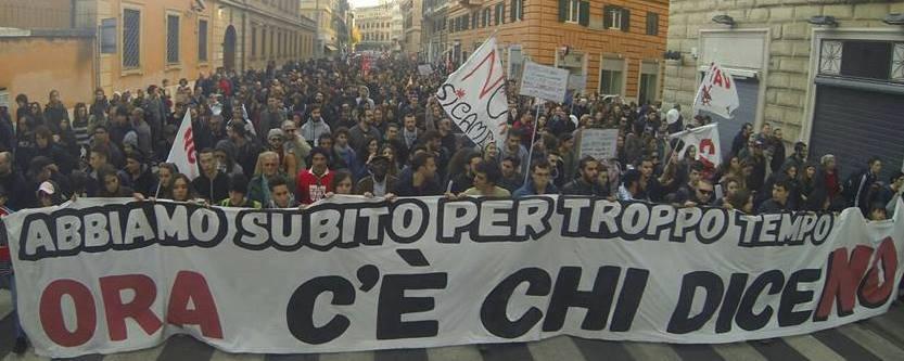 """Manifestation """"C'é che dice No"""" le 27 novembre 2016 à Rome"""