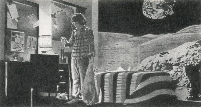 Julien Carreyn  Sans titre, 2011 — Sans titre,  2011 Graphite sur papier Dowler Rowney — 9 x 14 cm Collection Alix Dionot-Morani et Antoine Dathanat