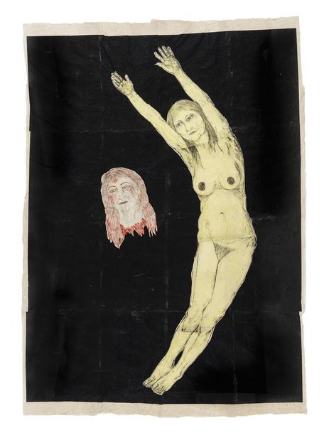 Kiki Smith,  Eclipse , 2002 ( encre et gouache sur papier )  245 x 174cm © Kiki Smith