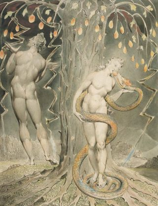 William Blake, La tentation d'Eve (1808)