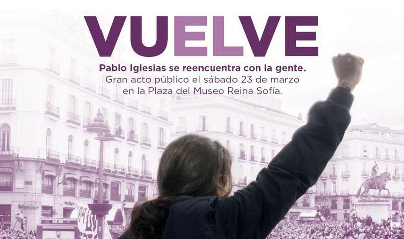 Podemos. Toujours la crise et une affiche qui fait mal...   -