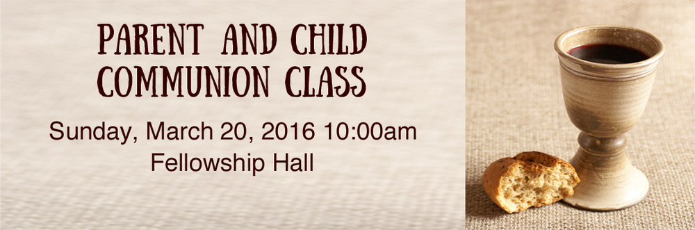 Parent Child Communion Class