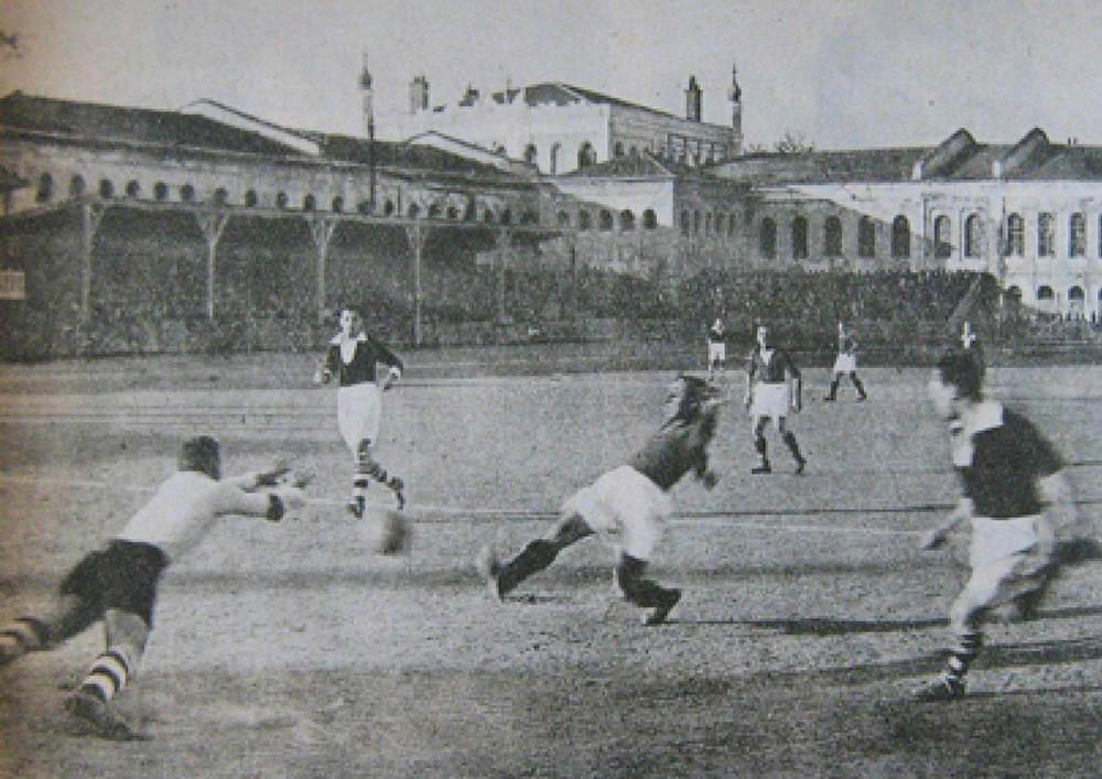 THE BARRACKS TURNED FOOTBALL STADIUM