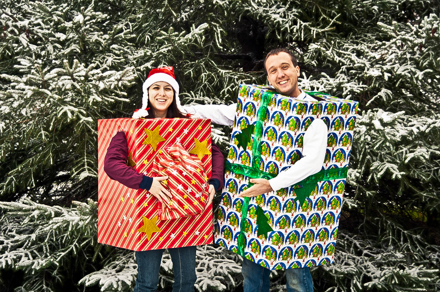 Jay McIntyre Photography Trevor and Zuzka Christmas card