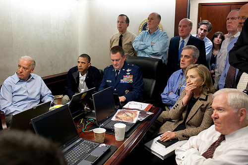 9-bits :     The Obama security team watching the Osama Bin Laden attack, live. (by  The White House )