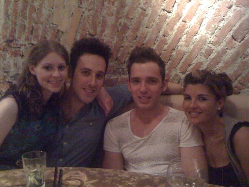 Milan with stevie, Kate and Emily! The lakes tomorrow :)